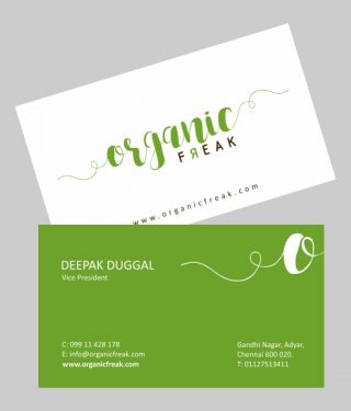 Organic Business Card Product Image